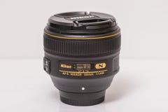 Nikon af-s Nikkor 58mm f/1 4G lens royalty-vrije stock afbeeldingen