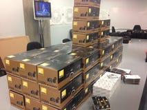 Nikon Camera Day. A fresh shipment of Nikon Cameras for work Stock Photo