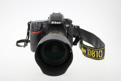 Nikon camera. The Nikon Digital Single Lens Reflex camera,Nikon D810 Royalty Free Stock Photos
