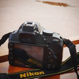 Nikon. Camera DSLR moment loved it royalty free stock image
