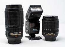 Nikon Camera Equipment stock image