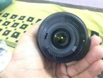 Nikon camera lens. Black nikon camera lens Stock Photography