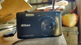 Nikon camera. Nikon point and shoot Royalty Free Stock Photo
