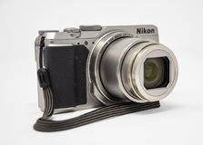 Nikon A900 camera. Reading, United Kingdom - December 28 2017: A Nikon A900 compact camera stock photos