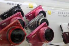 The nikon camera in the shop. Amoy city,china Royalty Free Stock Photos