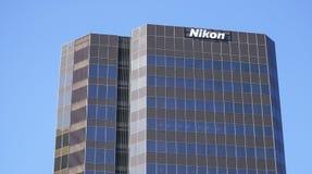 Nikon Company公司建筑物在洛杉矶-洛杉矶-加利福尼亚- 2017年4月20日 免版税库存照片