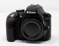 Nikon D3300 Camera. Reading, United Kingdom - September 29 2018: A Nikon D3300 Digital SLR Camera stock photos
