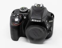 Nikon D3300 Camera. Reading, United Kingdom - September 29 2018: A Nikon D3300 Digital SLR Camera royalty free stock image