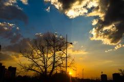 Nikon d5100 es el tiro, cielo de la naturaleza en el novi Serbia triste fotos de archivo libres de regalías