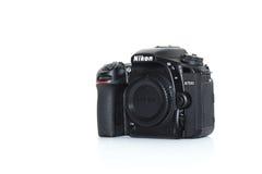 Nikon D7500 front right. Camera Stock Photos