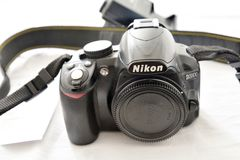 Nikon d3100 kamera Arkivfoton