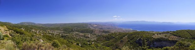 A sweeping Vista to Pelion Region from Mt Pourianos Stavros. royalty free stock photos