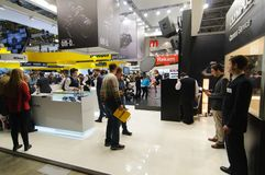 Nikon en Olympus bij Foto Expo stock foto