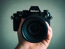 Nikon F3 film SLR camera Stock Image