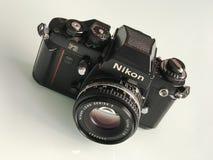 Nikon F3 35mm SLR film camera. Moscow, Russia - February 20, 2018: Legendary Nikon F3 35mm film camera Stock Photography