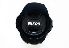 Nikon Hood. Nikon Camera Hood with  Logo Royalty Free Stock Photos