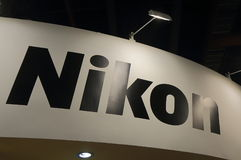 Nikon Japanese camera Japan. Nikon. Nikon is a Japanese multinational corporation headquartered in Tokyo, Japan, specializing in optics and imaging products Stock Images