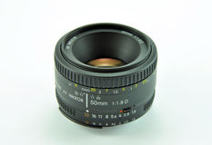 Nikon lens. Image of a 50 mm Nikkor-Nikon lens Royalty Free Stock Images
