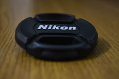 Nikon lens cap Stock Photo