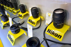 Nikon lens Royalty Free Stock Photos