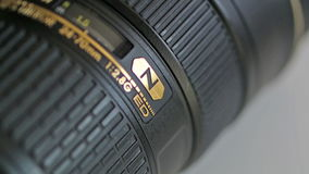 Nikon lens Royalty Free Stock Photo