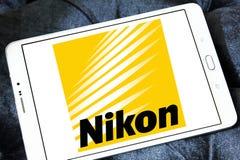 Nikon logo. Logo of camera manufacturer nikon on samsung tablet royalty free stock photo
