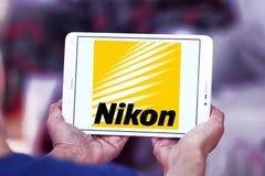 Nikon logo. Logo of camera manufacturer nikon on samsung tablet Stock Photos