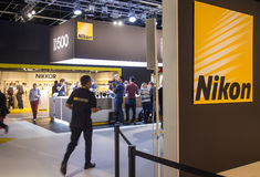 Nikon in Photokina 2016 royalty-vrije stock foto