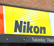 Nikon Sign Stock Image