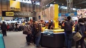 Nikon ställningsNEC Birmingham 2016 Royaltyfria Bilder