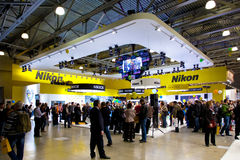 Nikon stand on Moscow exhibition Royalty Free Stock Photo