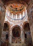 Nikortsminda, Georgia - 28 de abril de 2017: Interior y frescos murales en la catedral de Nikortsminda en Racha, Georgia Fotos de archivo libres de regalías