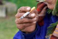 Nikotinböjelse Royaltyfria Bilder