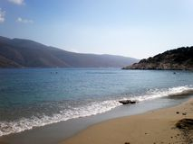 Nikouria island, Cyclades, Greece. Small island near Amorgos, Aegean Sea. Beautiful island next to Amorgos island. Aegean sea stock photo