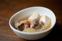 NikudÅhu japonês (carne cozida a fogo brando e Tohu) Fotos de Stock
