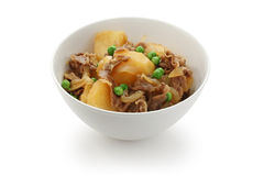 Nikujaga , simmered beef and potatoes , japanese f Royalty Free Stock Photography