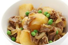 Nikujaga , simmered beef and potatoes , japanese f Royalty Free Stock Photos