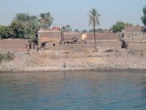 Nil. Arabic building at coast of Nil Stock Photo