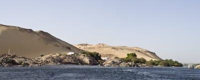 Nil-Fluss, Aswan stockfotos