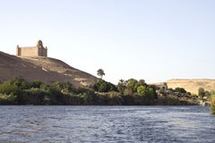 Nil-Flusshaus, Aswan Lizenzfreie Stockfotos