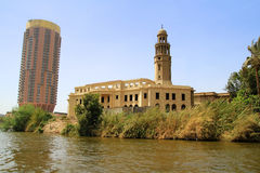 Nil-Flusslandschaft in Kairo, Ägypten Lizenzfreie Stockfotos