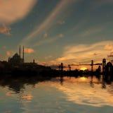 Nil-Flussquerneigung lizenzfreies stockbild