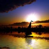 Nil-Flussquerneigung stockfoto