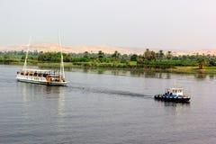 Nil łodzie Fotografia Royalty Free