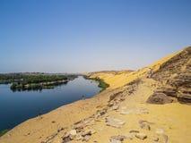 Nil Rzeczny brzeg w Aswan Zdjęcie Royalty Free