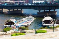 Nil rzeka przy Kair, Egipt - Obraz Royalty Free