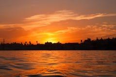 Nil-Sonnenaufgang stockfoto