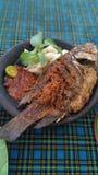 Nila Fried med grönsaken Arkivfoton