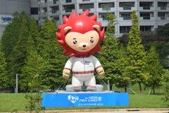 Nila The Mascot For 2015 jogos do mar de Para fotografia de stock