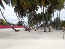 Nilandhoo, capital del atolón de Faafu, Maldivas fotografía de archivo libre de regalías
